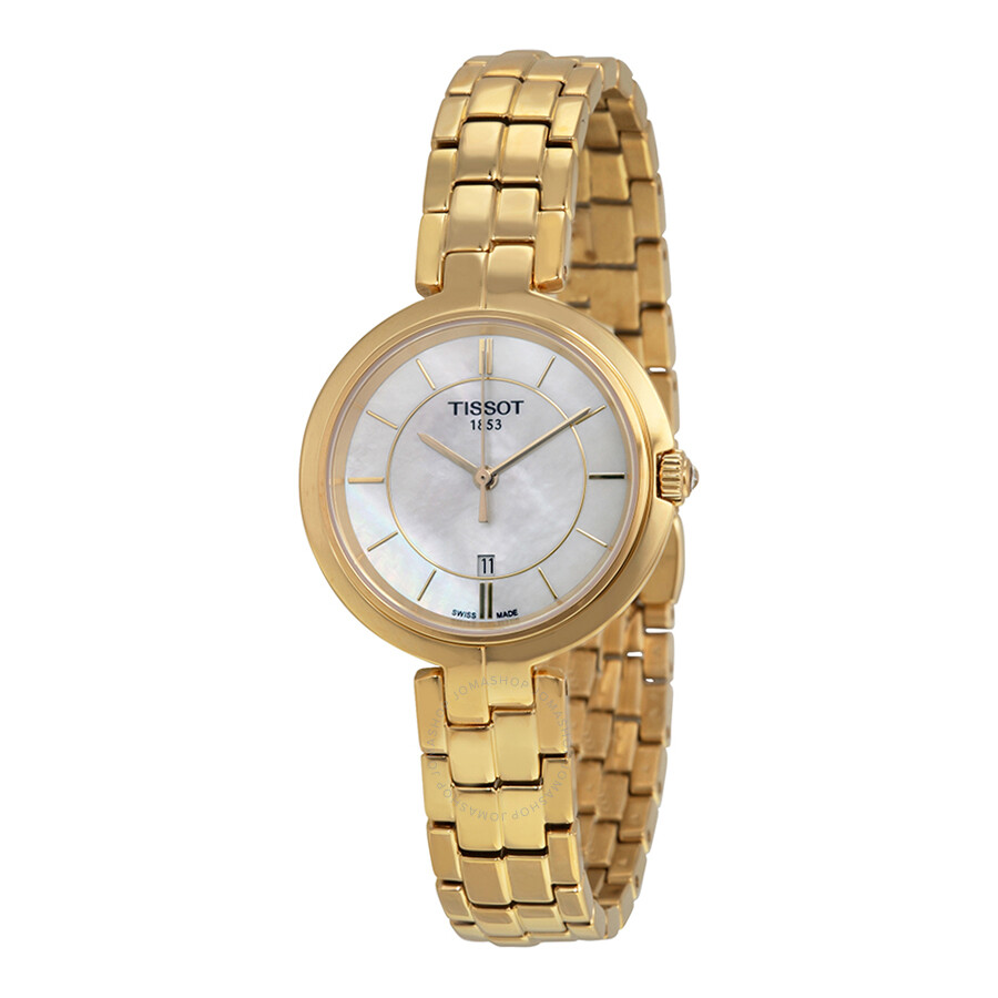Tissot flamingo white mother of pearl dial ladies watch flamingo t trend for Mother of pearl dial watch
