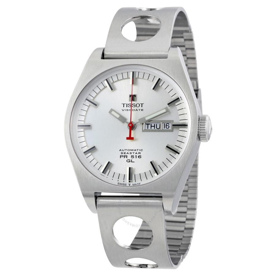 779e7351da7 Tissot Heritage PR 516 Silver Dial Automatic Men's Watch T071.430.11.031.00  ...