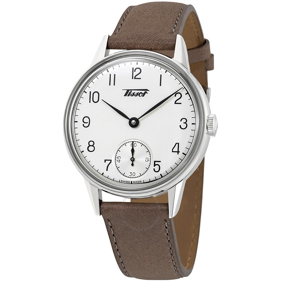 Tissot Heritage Silver Dial Brown Leather Men's Watch T1194051603701