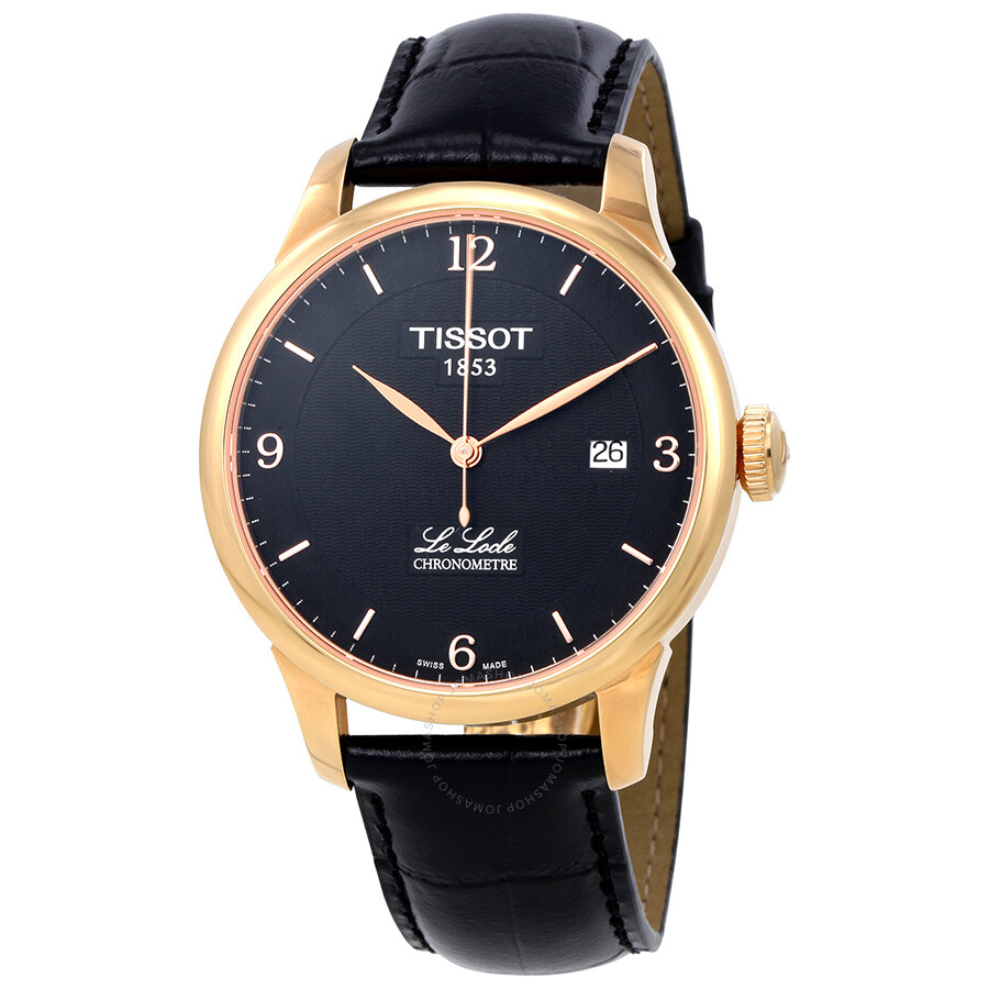Leather Gmbh Contact Us Email Sales Mail: Tissot Le Locle Automatic COSC Black PVD Men's Watch