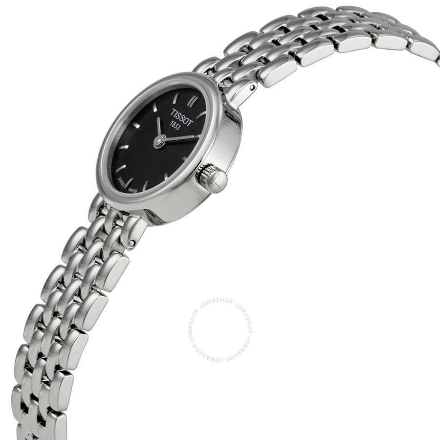 Lovely Black Dial Stainless Steel Ladies Watch T0580091105100