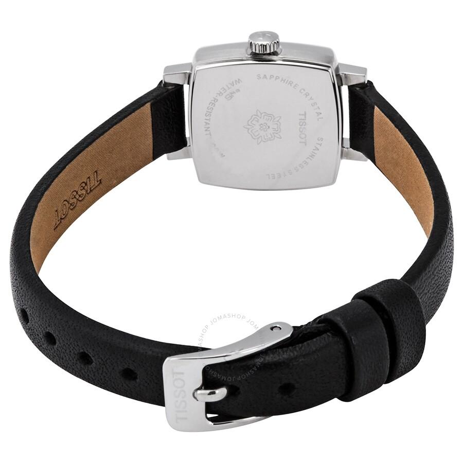Lovely Square Quartz Diamond Black Dial Ladies Watch T058.109.16.056.00