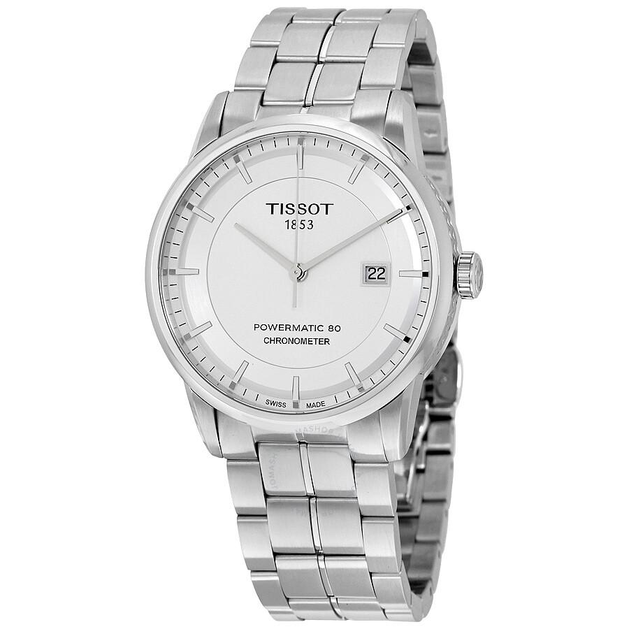 60a5a3dfa39 Tissot Luxury Automatic Silver Dial Men's Watch T086.408.11.031.00 ...