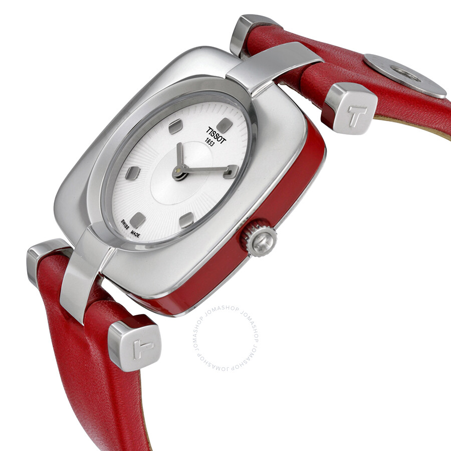 44c8ce427a7 ... Tissot Odaci-T Silver Dial Pink Leather Ladies Watch T020.309.16.031.02  ...