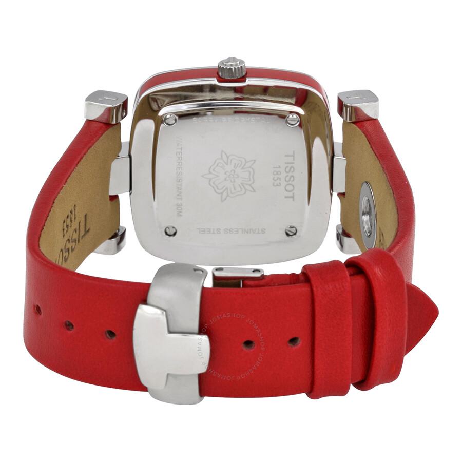 b945d4f51cc ... Tissot Odaci-T Silver Dial Pink Leather Ladies Watch T020.309.16.031.02
