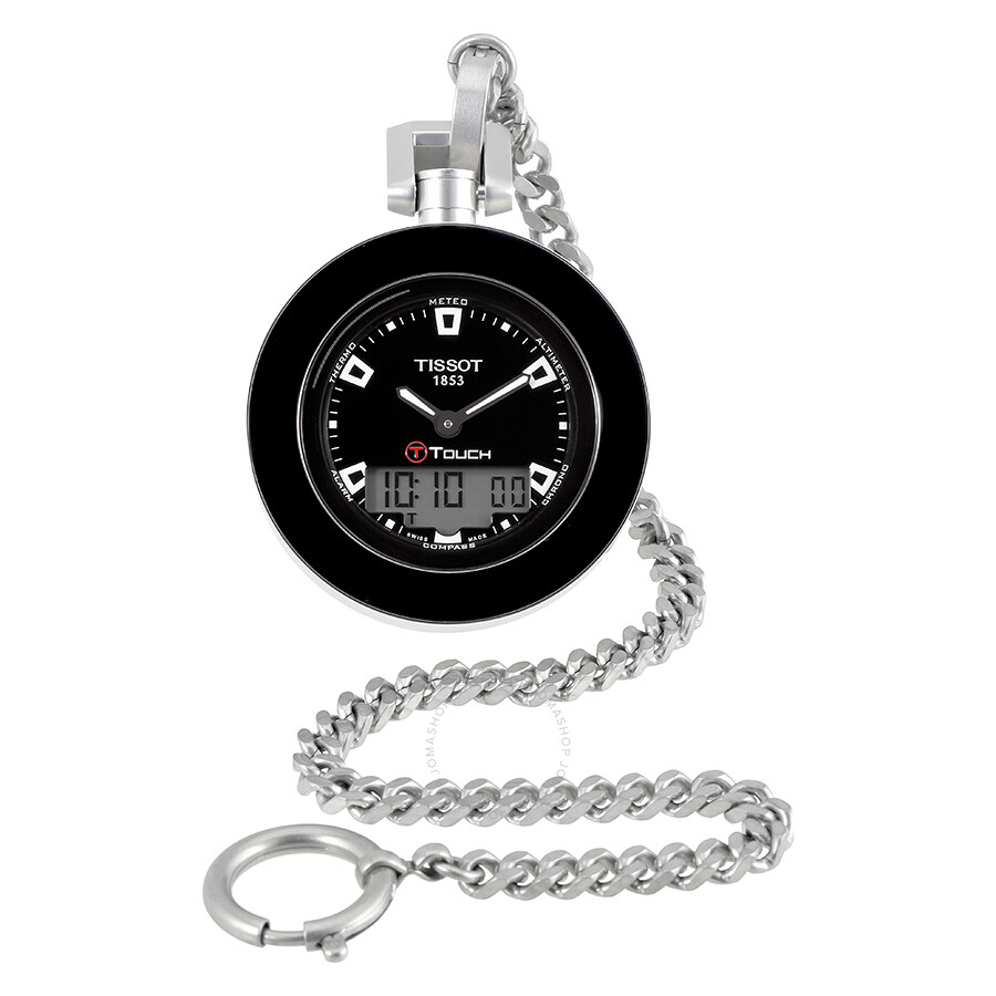 Tissot t pocket watches jomashop tissot pocket touch black dial mens pocket watch audiocablefo