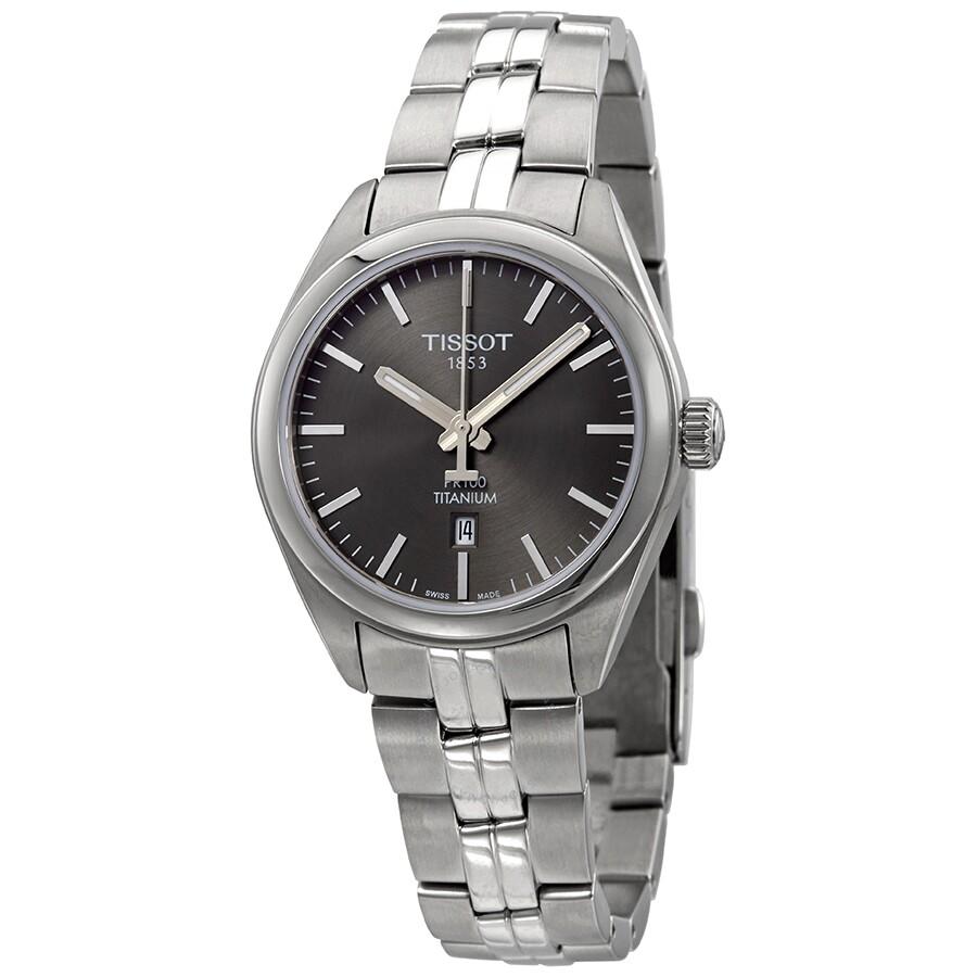 PR 100 Anthracite Dial Ladies Titanium Watch T101.210.44.061.00