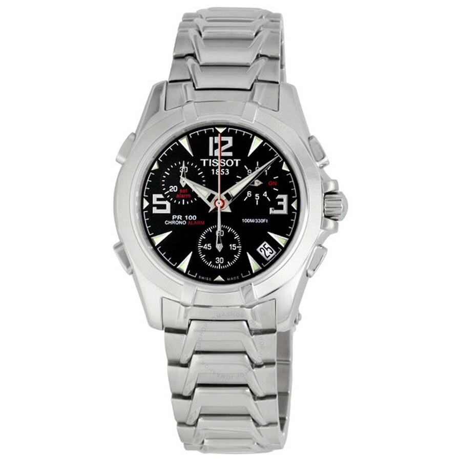 c97f907a318 Tissot PR100 Steel Chronograph Black Men s Watch T14.1.486.52 - PR ...