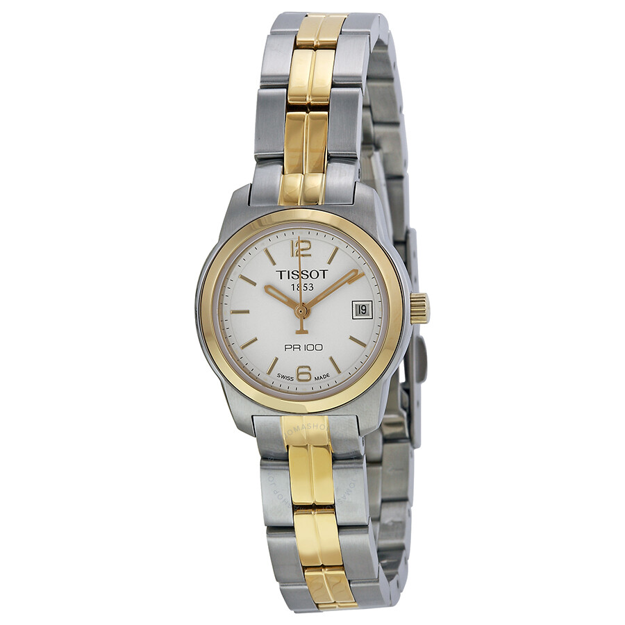 tissot pr100 white two tone
