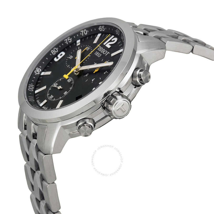 5aaa4b51eff ... Tissot PRC 200 Chronograph Black Dial Stainless Steel Men's Watch  T0554171105700 ...