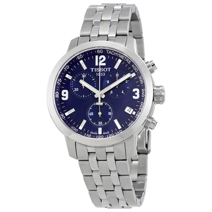 Tissot PRC 200 Chronograph Blue Dial Men's Watch ...
