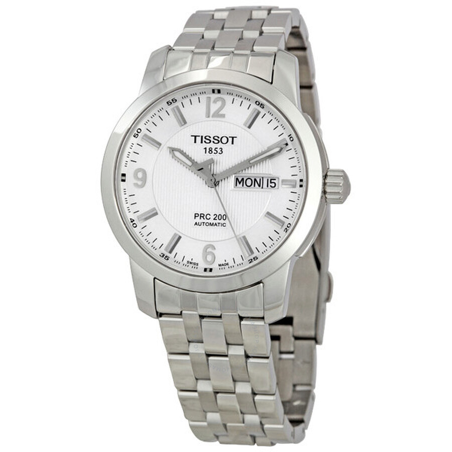 Tissot PRC 200 Men s Watch Automatic Bracelet Silver Dial  T014.430.11.037.00 ... b8d1faaef6d