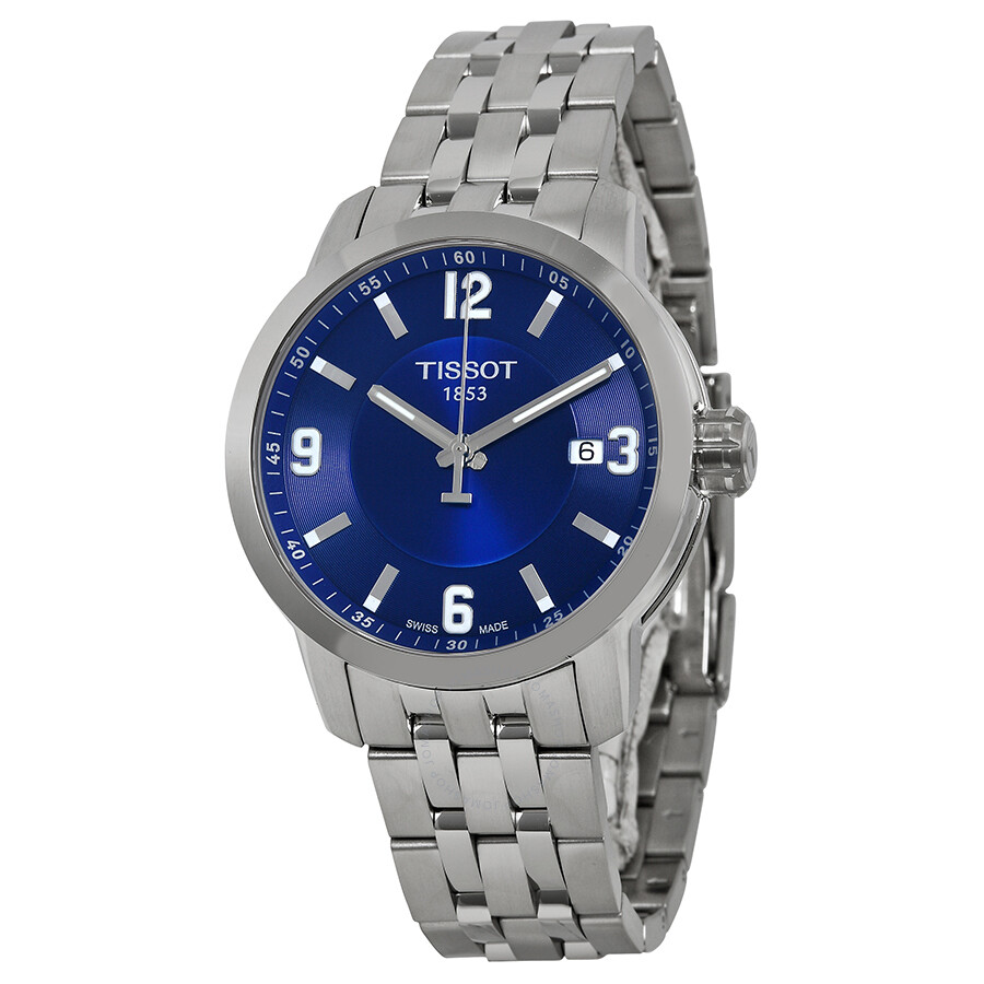 tissot prc 200 quartz blue stainless steel sport