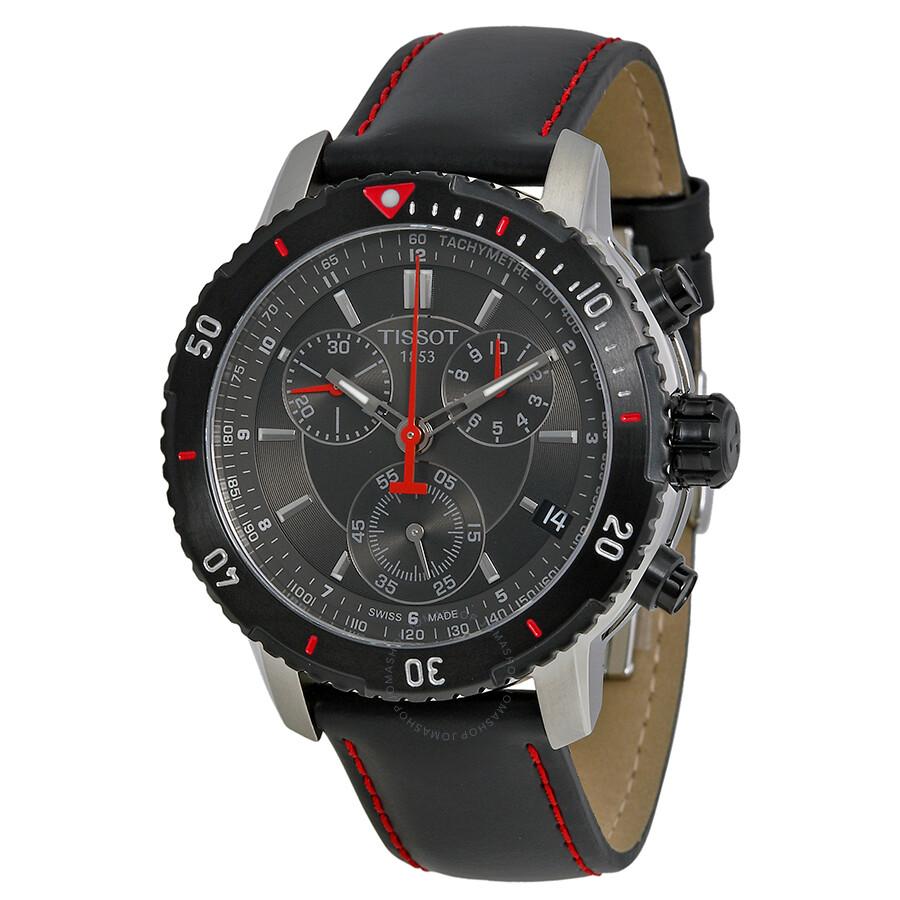 tissot prs 200 chronograph black dial men 39 s watch