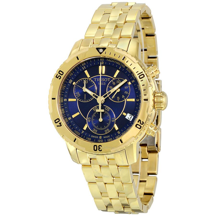 tissot prs 200 chronograph blue dial men 39 s watch. Black Bedroom Furniture Sets. Home Design Ideas