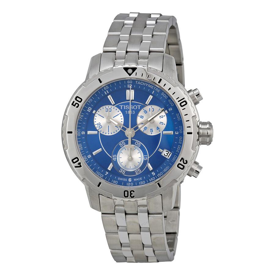 4765a0513 Tissot PRS 200 Chronograph Blue Dial Quartz Sport Men's Watch  T0674171104100 ...