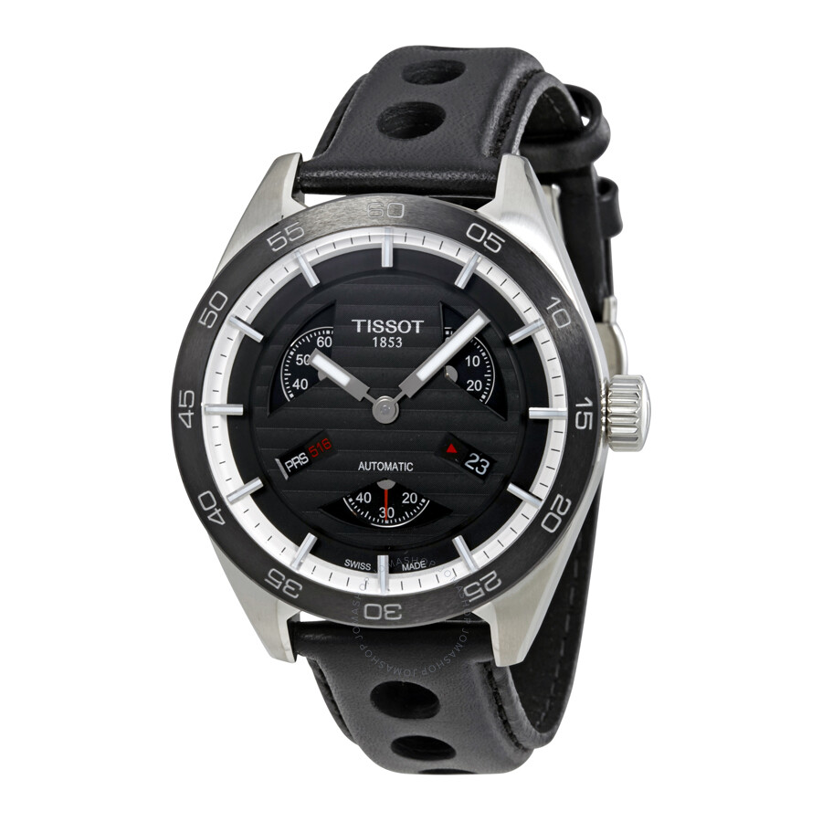 5dbbd1e06 Tissot PRS 516 Automatic Black Dial Men's Watch T100.428.16.051.00 ...