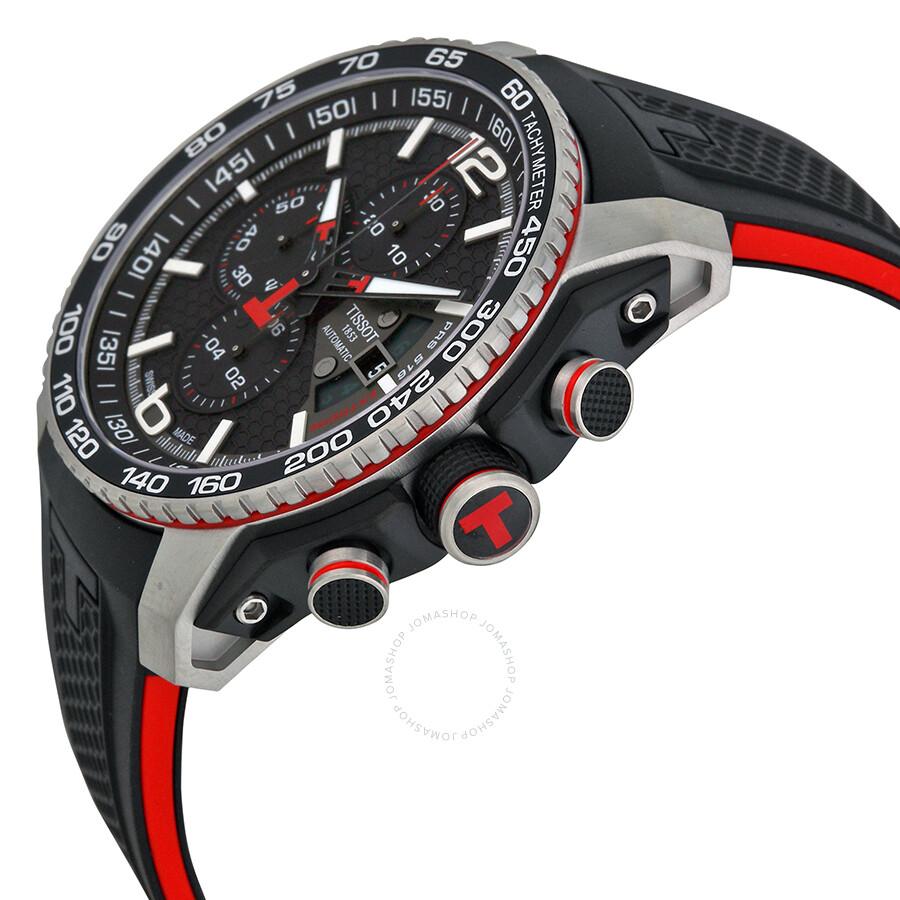 tissot prs 516 black dial chronograph men 39 s watch. Black Bedroom Furniture Sets. Home Design Ideas
