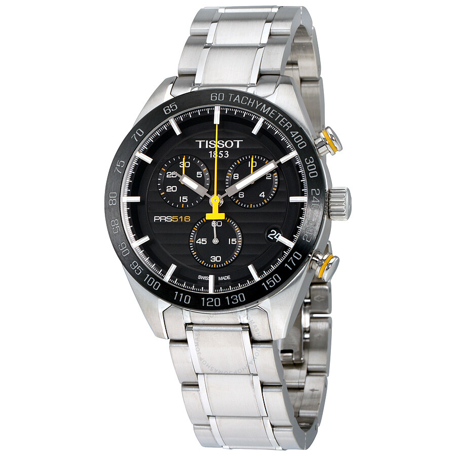 tissot prs 516 chronograph black dial men 39 s watch. Black Bedroom Furniture Sets. Home Design Ideas