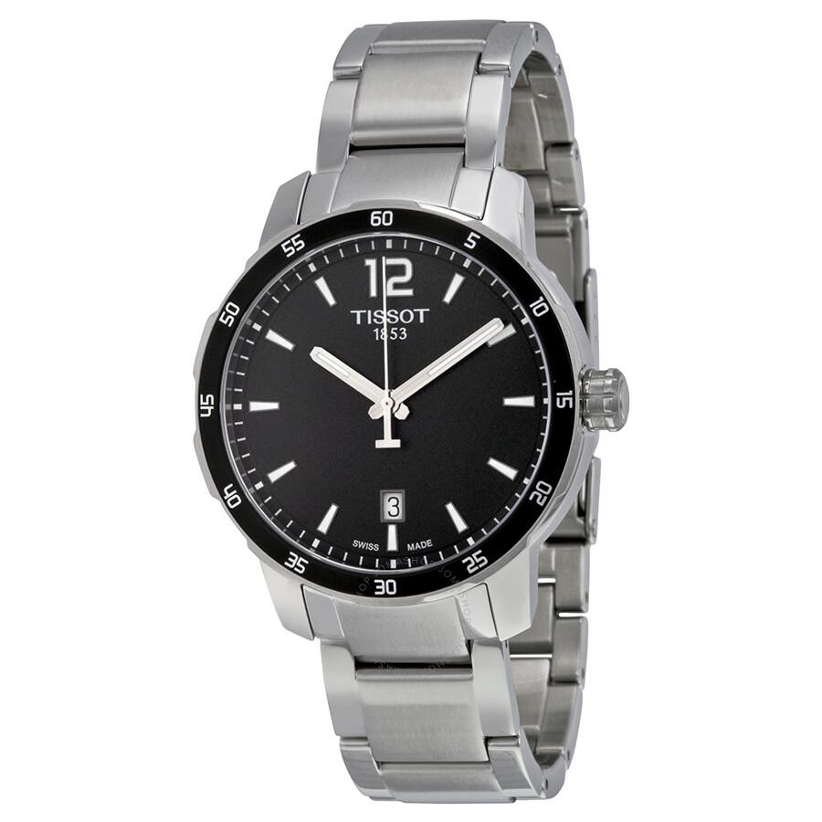 0041460bb8b Tissot Quickster Black Dial Stainless Steel Men's Watch T0954101105700 Item  No. T095.410.11.057.00