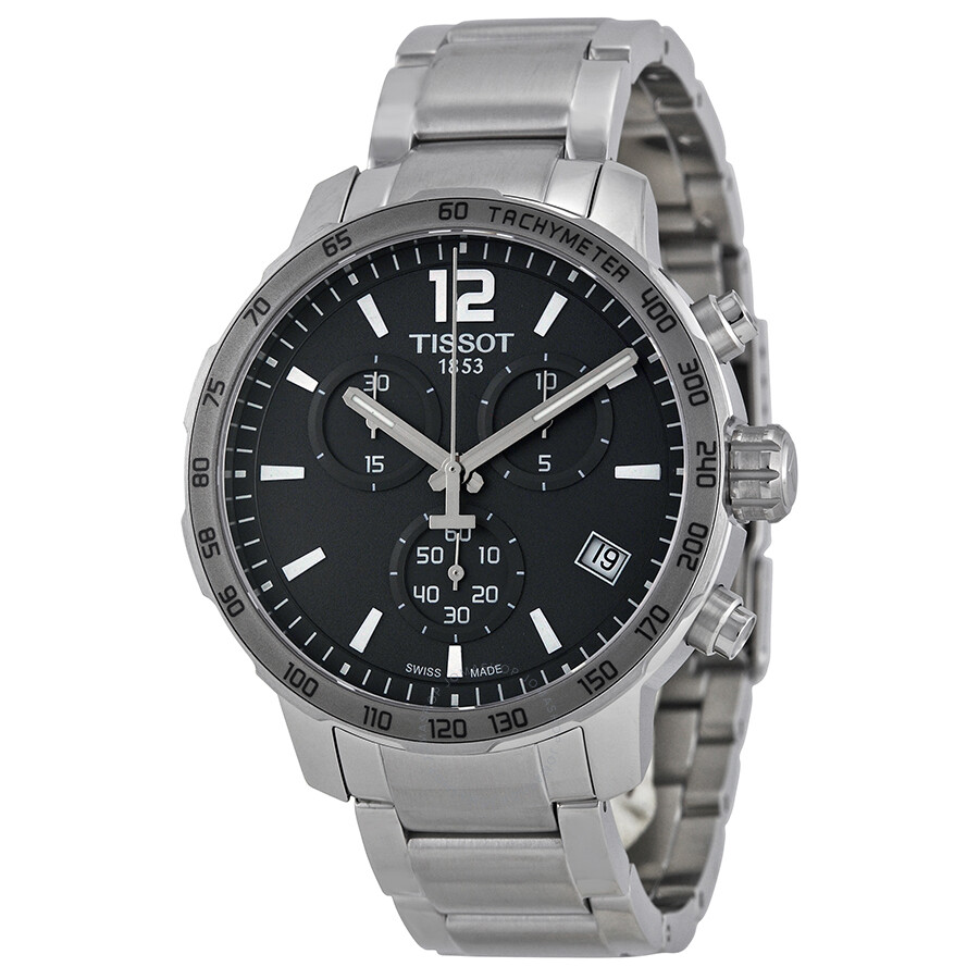 70c0a9d2f45 Tissot Quickster Chronograph Anthracite Dial Stainless Steel Men's Watch  T0954171106700 ...