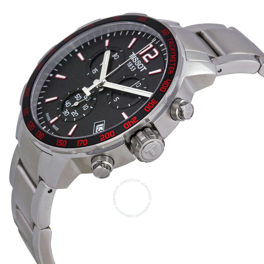 ad0edfbe2a2 ... Tissot Quickster Chronograph Black Dial Stainless Steel Men's Watch  T0954171105700 ...