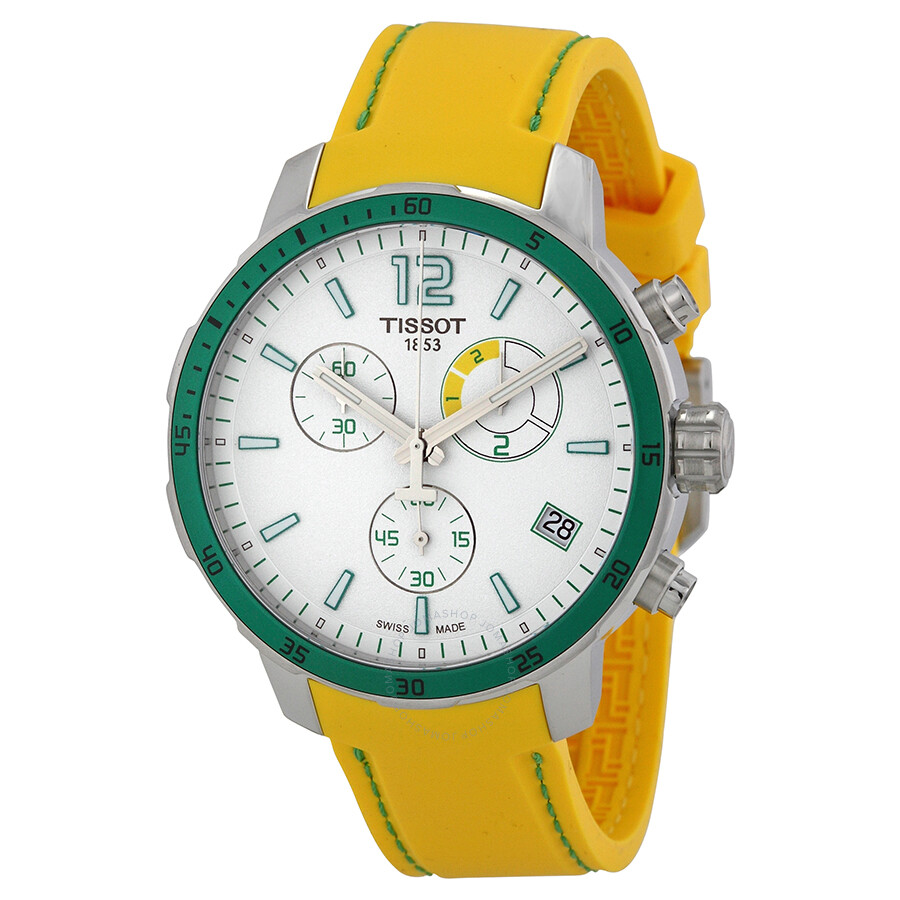 tissot quickster chronograph soccer world cup 2014 white