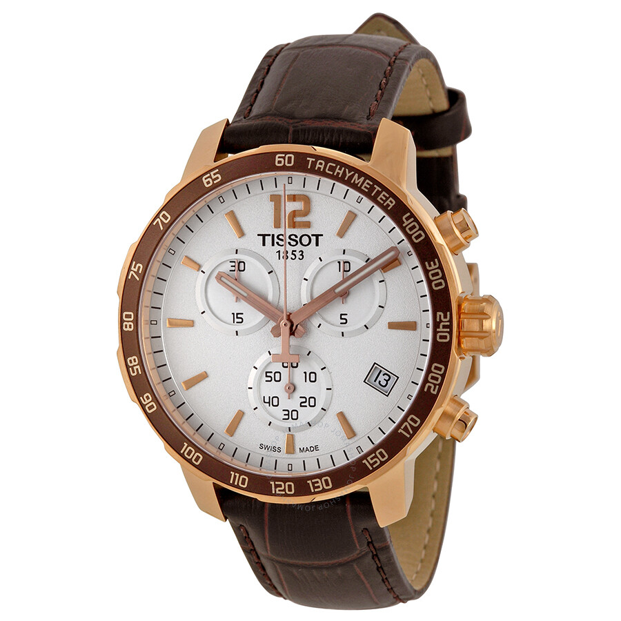 Leather Gmbh Contact Us Email Sales Mail: Tissot Quickster Chronograph White Dial Brown Leather Men