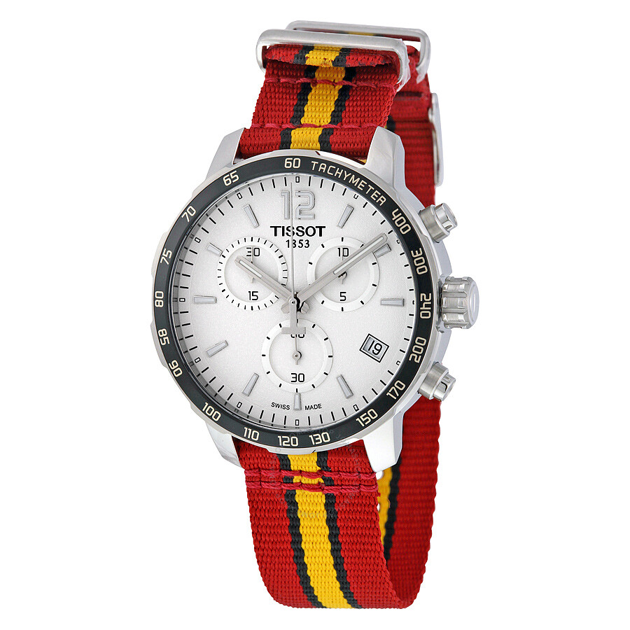 purchase cheap 490ab 7bf6a Tissot Quickster Miami Heat NBA Special Edition Silver Dial Men's Watch  T0954171703708