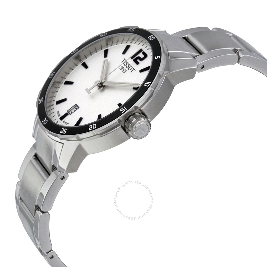 825bf43709a ... Tissot Quickster Silver Dial Stainless Steel Men's Watch T0954101103700  ...