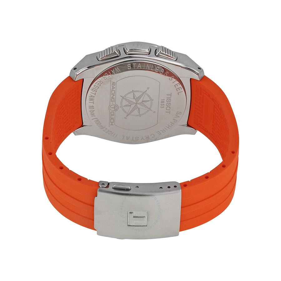 Tissot Racing Touch Black Dial Black Chronograph Orange