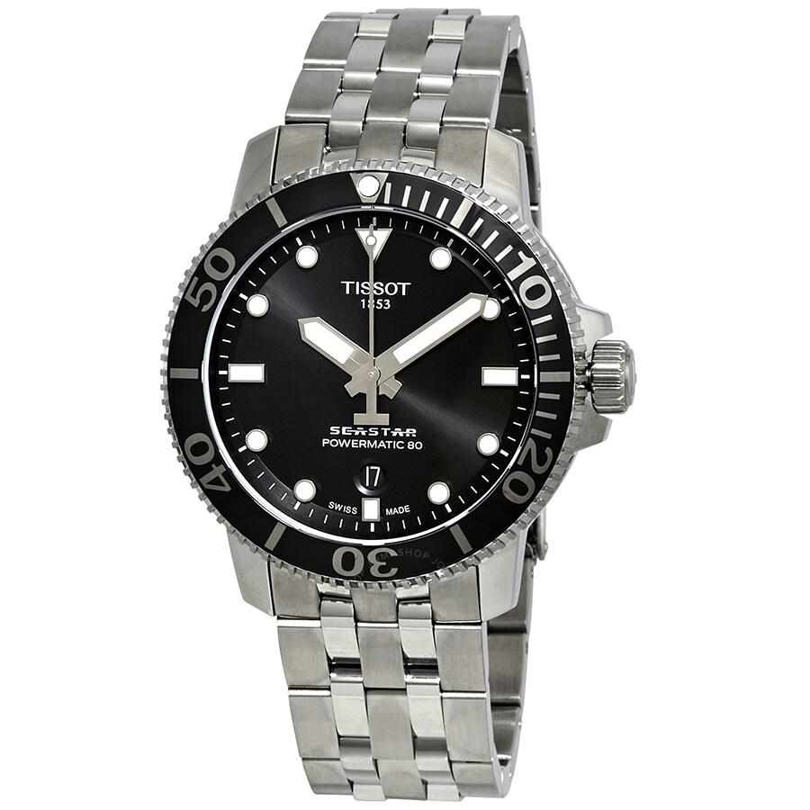 dfb3ade0315f Tissot Seastar 1000 Automatic Black Dial Men s Watch T1204071105100 ...