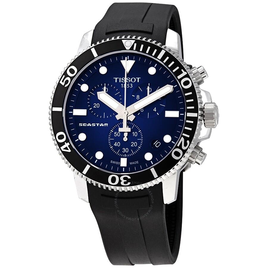 Tissot Seastar 1000 Chronograph Blue Dial Men S Watch T120 417 17 041 00