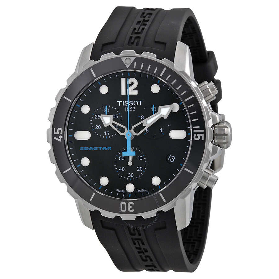 tissot seastar 1000 chronograph black s