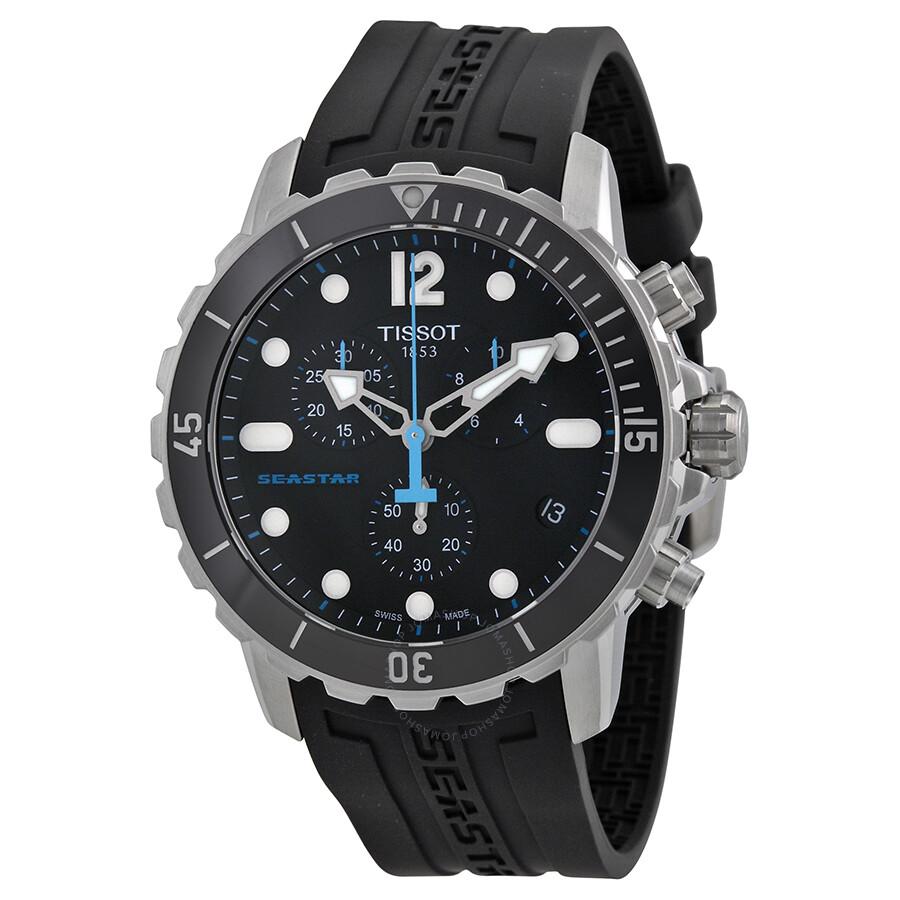 0df226cd336 Tissot Seastar 1000 Chronograph Black Dial Men s Watch T0664171705700 Item  No. T066.417.17.057.00