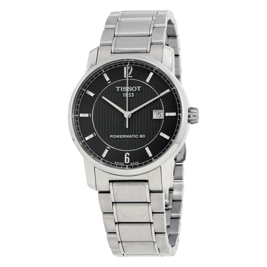 10bdc425436 Tissot T-Classic Titanium Automatic Black Dial Men s Watch T0874074405700  Item No. T087.407.44.057.00