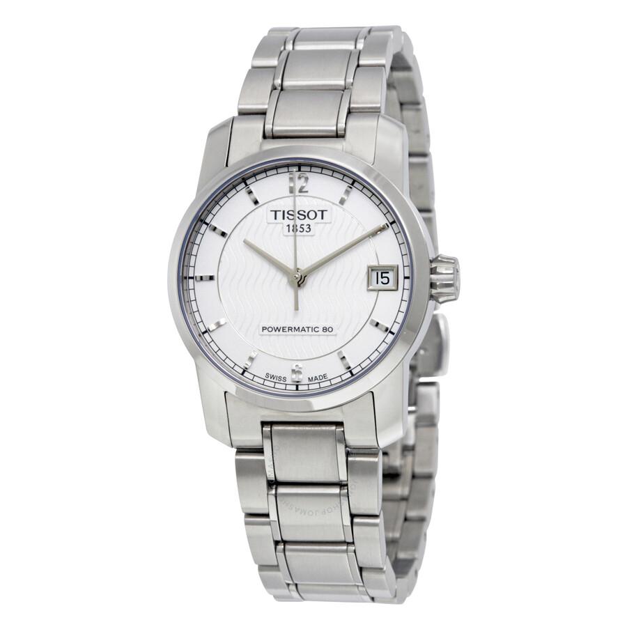 9df99610e Tissot T-Classic Titanium Automatic Silver Dial Ladies Watch T0872074403700  Item No. T087.207.44.037.00