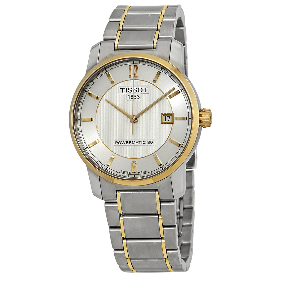 54dfc2aa4 Tissot T-Classic Automatic Titanium Silver Dial Two-tone Men's Watch  T0874075503700 Item No. T087.407.55.037.00