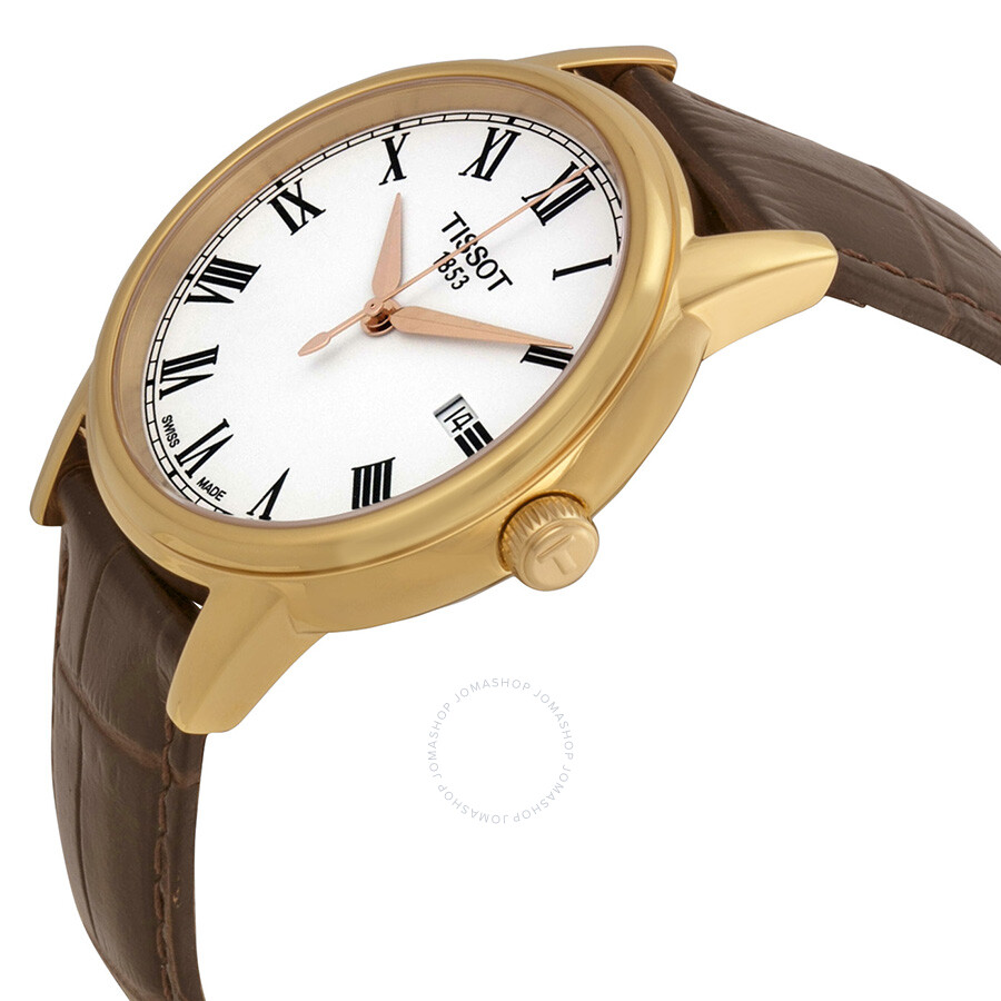 9bab6ffde ... WatchT0854103601300 Tissot T-Classic Carson White Dial Rose Gold-tone  Men's WatchT0854103601300 ...
