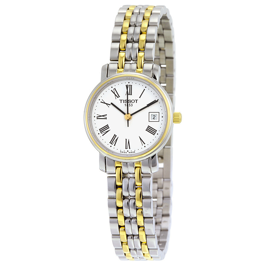 Tissot T-Classic Desire Silver Dial Two Tone Stainless Steel Ladies Watch  T52228113 ... 87bfb636b33