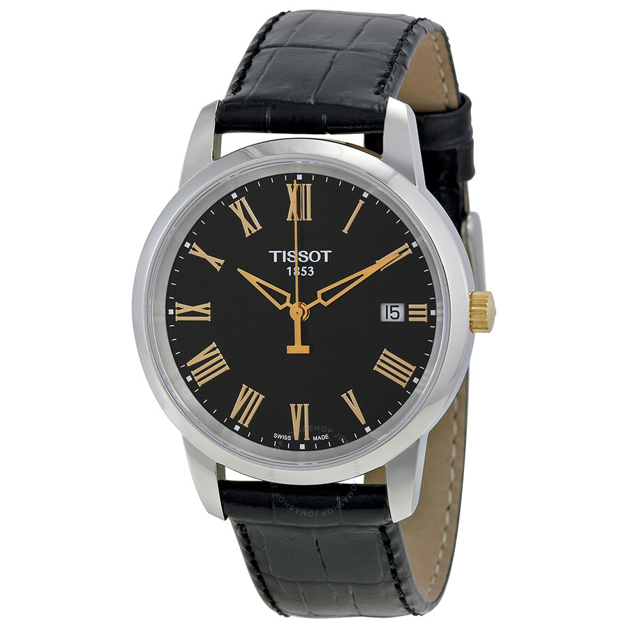 tissot t classic dream black dial men 39 s watch. Black Bedroom Furniture Sets. Home Design Ideas