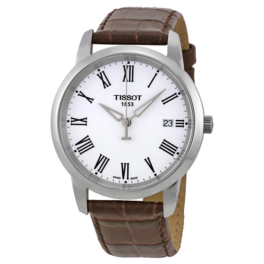 tissot t classic dream white dial men 39 s watch. Black Bedroom Furniture Sets. Home Design Ideas