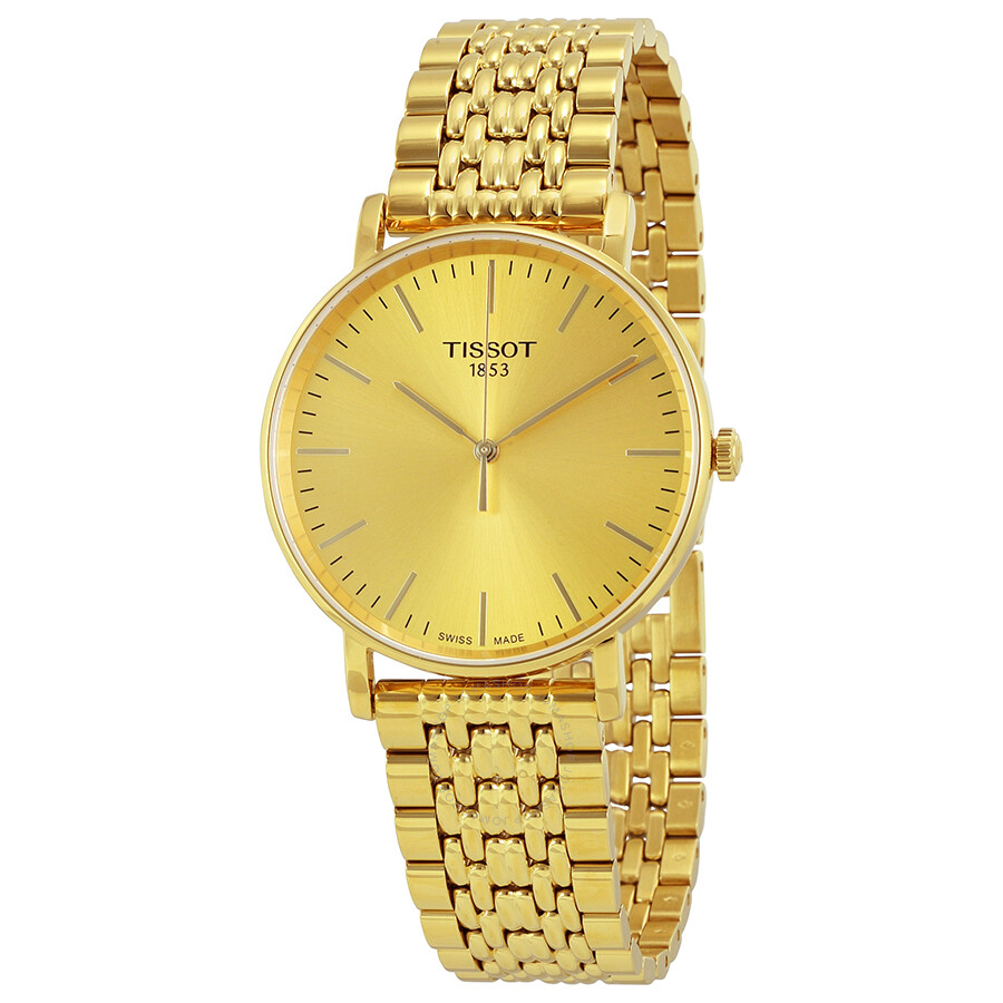 tissot t classic everytime gold s t109 410