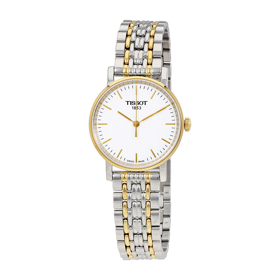 Tissot T-Classic Everytime White Dial Ladies Two Tone Watch  T109.210.22.031.00 ... ba0a95a281
