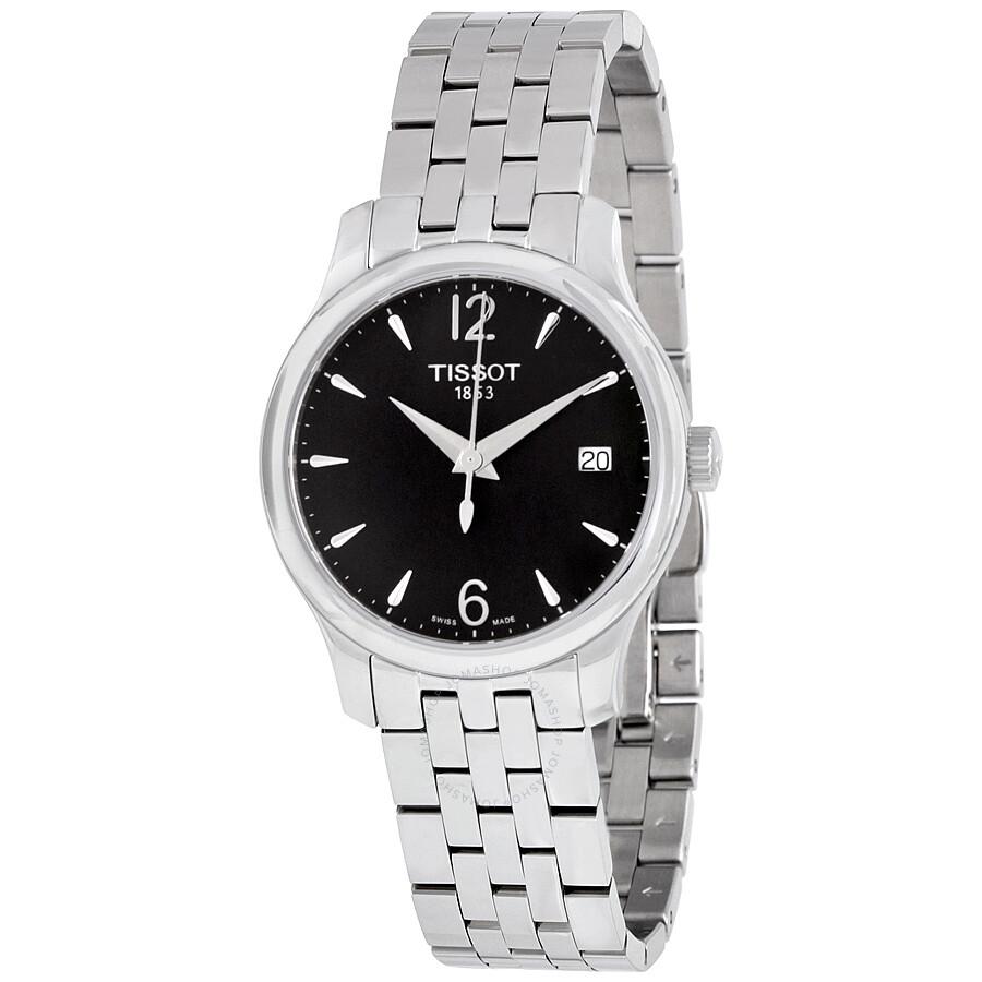 42834b971ad Tissot T-Classic Tradition Black Dial Ladies Watch T0632101105700 Item No.  T063.210.11.057.00