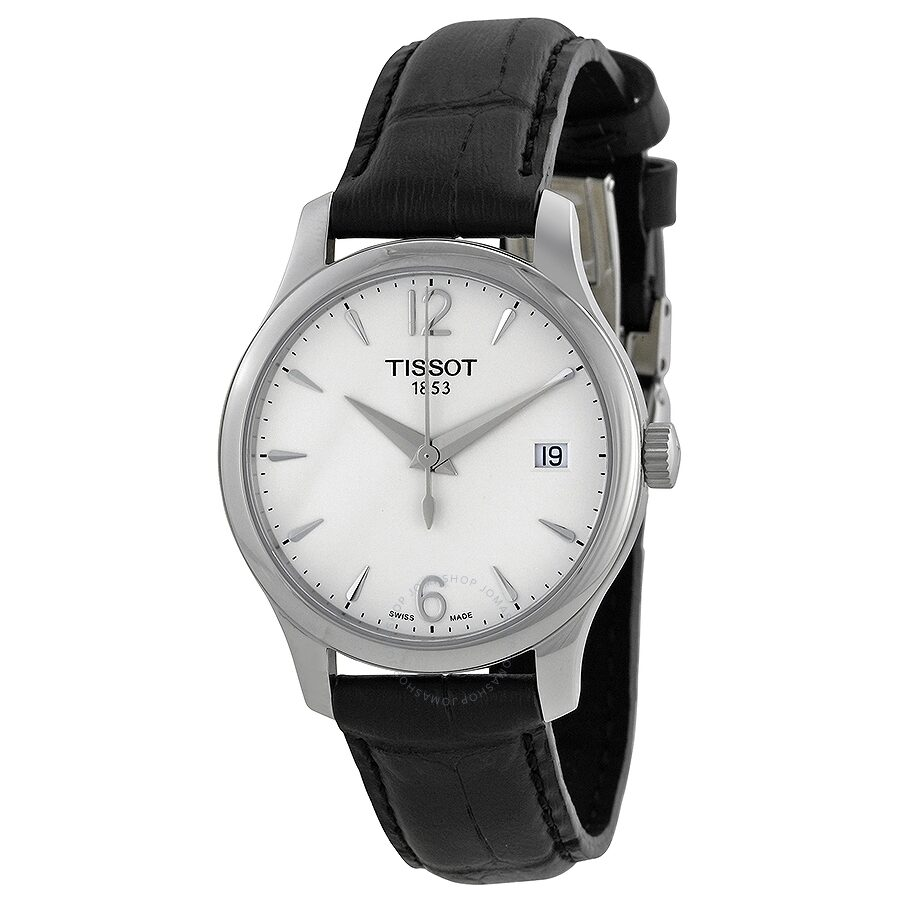 535853fbea6 Tissot T-Classic Tradition Silver Dial Ladies Watch T0632101603700 ...