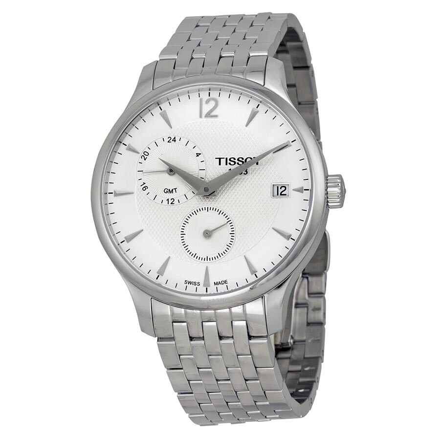 Tissot T-Classic Tradition White Dial Stainless Steel Men s Watch  T0636391103700 ... c003a8a1e8b