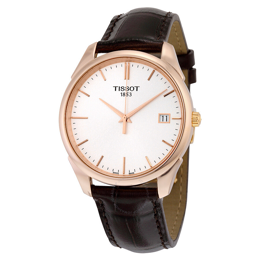 94e37bb172c Tissot T-Gold Vintage Silver Dial Brown Leather Men s Watch T9204107603100  Item No. T920.410.76.031.00