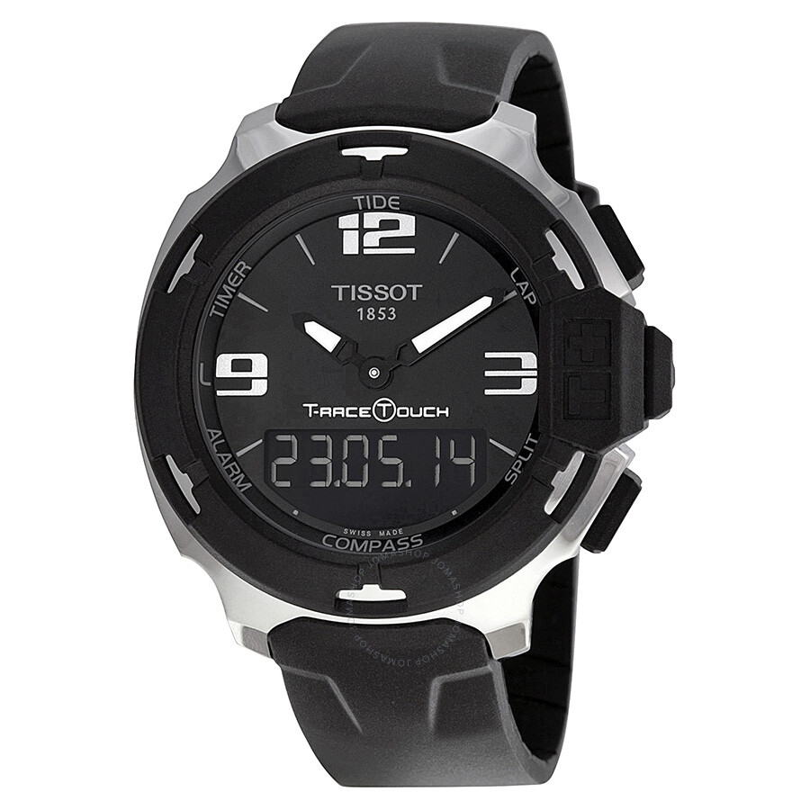 tissot t race analog digital black rubber men s watch tissot t race analog digital black rubber men s watch t0814201705701