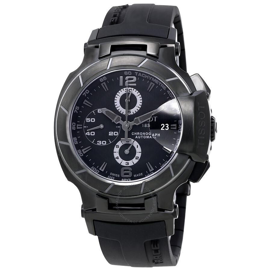 tissot t race black dial chronograph automatic black. Black Bedroom Furniture Sets. Home Design Ideas